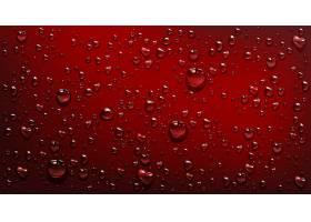 红色背景上的水滴_8497583