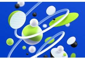 绿色和白色未来主义3D背景_7074485