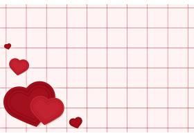 网格红色背景上的心形_12458504