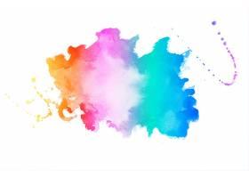 色彩鲜艳的水彩画纹理背景_9106242