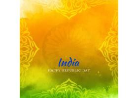 艺术典雅的印度国旗主题时尚的共和国日背景_12313156