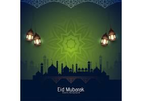 艺术开斋节宗教背景设计向量穆巴拉克伊斯兰_13453537