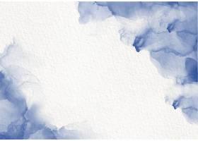 蓝色水彩流畅的绘画设计卡染飞溅风格_12158149