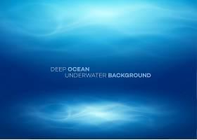蓝色的深水和大海抽象的自然背景_13204850