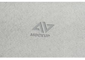极简主义灰纸上的大写字母模拟标志设计_12287458