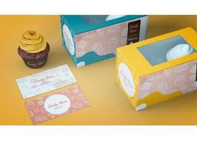 纸杯蛋糕包装和品牌模型_4383768