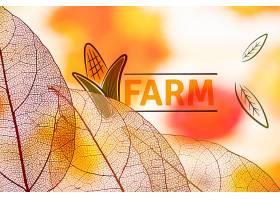 带有半透明叶子的农场标志_5364308