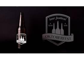 啤酒节模拟啤酒黑色背景_5225993