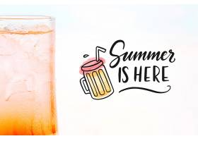 夏季鸡尾酒概念带复制空间样机_4724702