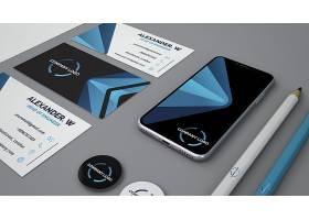 带智能手机的文具模型_3025658