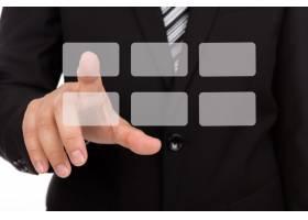 选择一个灰色正方形的商人_985247