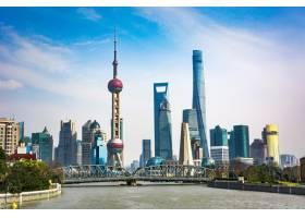 上海地平线在晴天中国_1175772