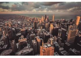 一座都市城市的美好的都市风景从上面射击_7629803