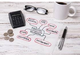 阅读眼镜用于个人规划财务_5683124