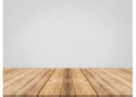 在热带纸纹理墙壁的木桌面模板嘲笑为产品_1381339