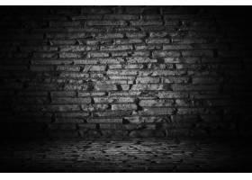 抽象黑水泥砖与边界黑色小插图背景_1015100