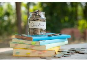 将钱币储蓄在玻璃瓶中储蓄概念投资相互基金_14779247