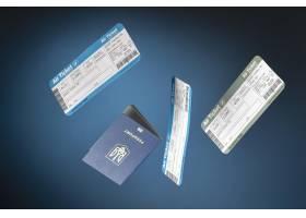 与飞机票和护照的旅行概念_16139028