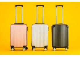 粉红色的灰色黑色行李或行李袋用于运输旅行_7723657