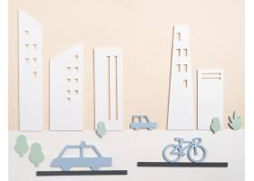 运输概念与汽车和自行车_15226140