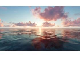 在日落的海灘與云彩_977501