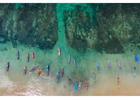 長的尾巴小船鳥瞰圖在海的在酸值陶島泰國_13249864