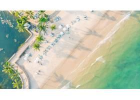 海灘和海鳥瞰圖_4098051