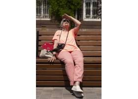 獨自旅行的年長婦女在夏天_16189076