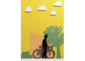 城市运输概念与自行车_15226166