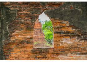 美麗的老建筑學歷史的阿尤特拉利夫雷斯在泰_1248718