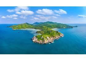 美麗的酸值陶海島鳥瞰圖在蘇叻他尼泰國_13249916