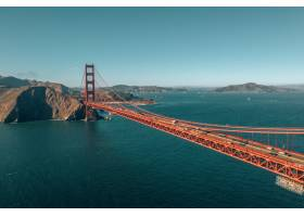 金門大橋的空中射擊在舊金山加利福尼亞_15915230