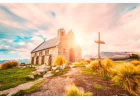 与教会的晴朗的风景_874788