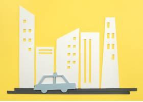 与汽车的都市运输概念_15226117