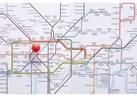几何地铁地图与pinpoint_5003381