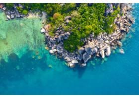 海濱鳥瞰圖在酸值陶島泰國的_13249861