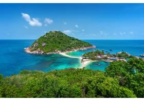 美丽的koh nangyuan海岛在苏比尼泰国_13249959