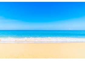 美丽的海滩和海_3816951