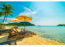 美丽的热带海滩和海_4123351