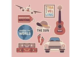 70年代风格的旅行贴纸收藏_6282523