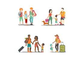 家庭度假套装男人妇女孩子玩得开心有趣的_12648696