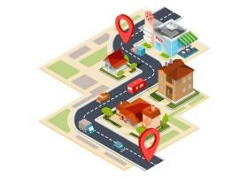 导航地图的传染媒介例证与gps象的_1215942