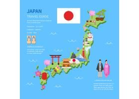 旅行日本指南平面图海报_3797910