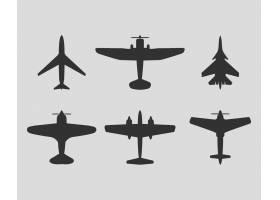 剪影不同飞机的顶视图_1250479