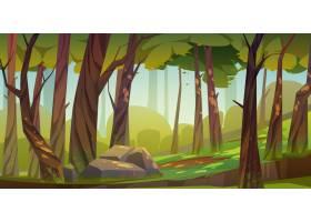 动画片森林背景自然公园风景_8067055
