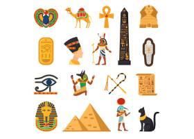 埃及旅游图标集_3861933