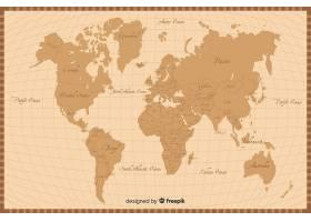 复古风格世界地图纹理背景_5579073