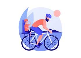 夫妇在自行车上健康的生活方式和健身在_11663666