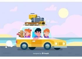 旅行的家庭在海边旅行_4831454