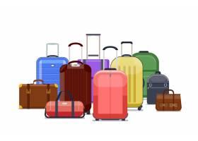 旅行袋和行李颜色行李堆到旅行旅行例证_13031414